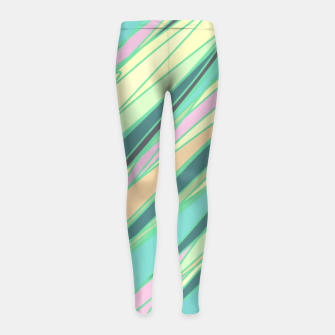 Thumbnail image of Pencil scratches colorful print, vibrant colors, summer design Girl's leggings, Live Heroes