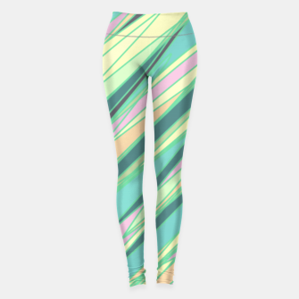 Thumbnail image of Pencil scratches colorful print, vibrant colors, summer design Leggings, Live Heroes