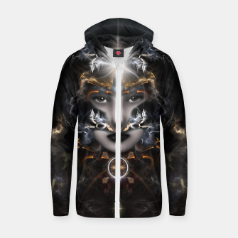 Thumbnail image of Goddess Of The Black Moon V3 Zip up hoodie, Live Heroes