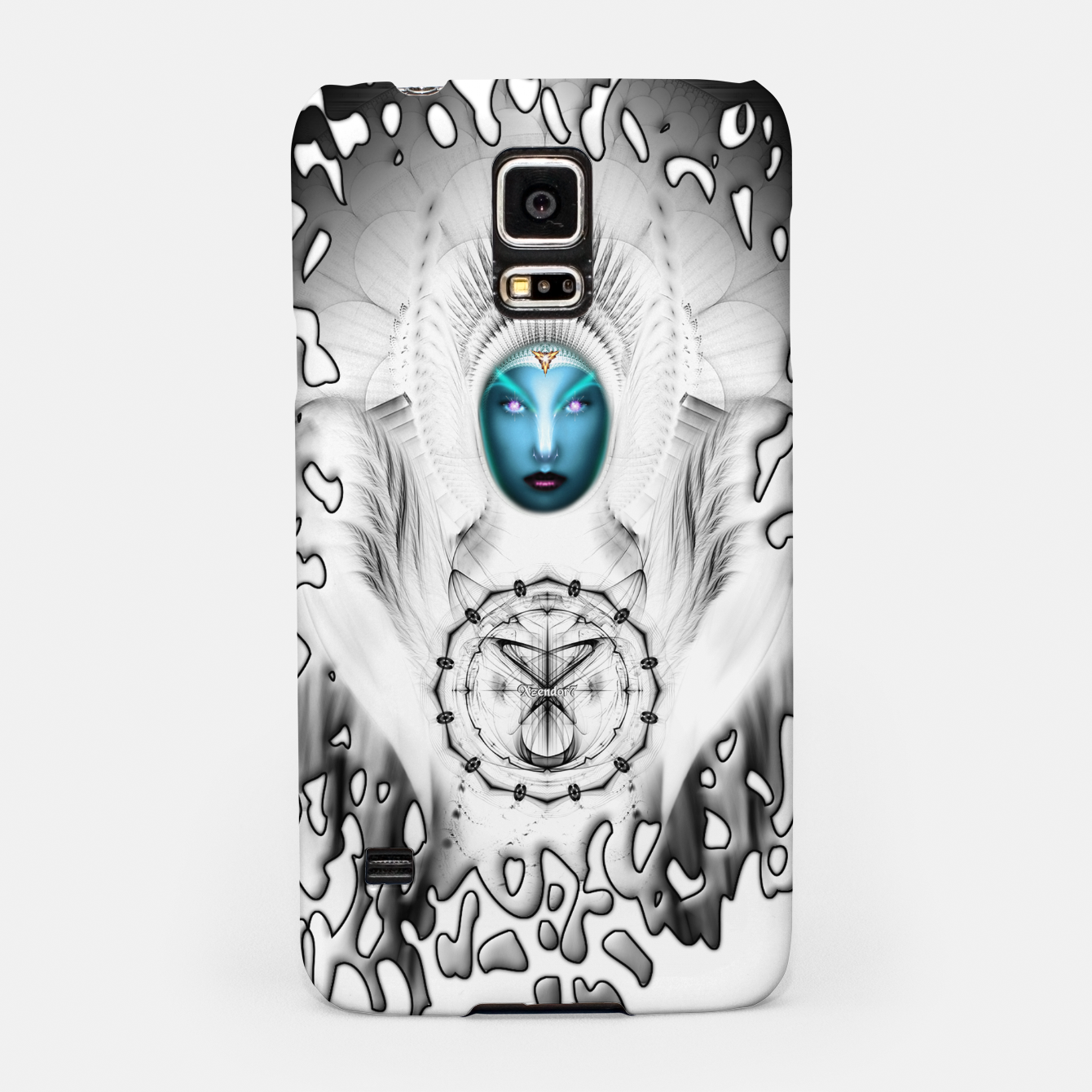 Image of Riddian Queen Angel White SPL On White  Samsung Case - Live Heroes