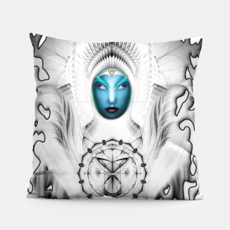 Thumbnail image of Riddian Queen Angel White SPL On White  Pillow, Live Heroes