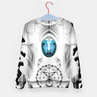 Thumbnail image of Riddian Queen Angel White GSplatter On Black Kid's sweater, Live Heroes