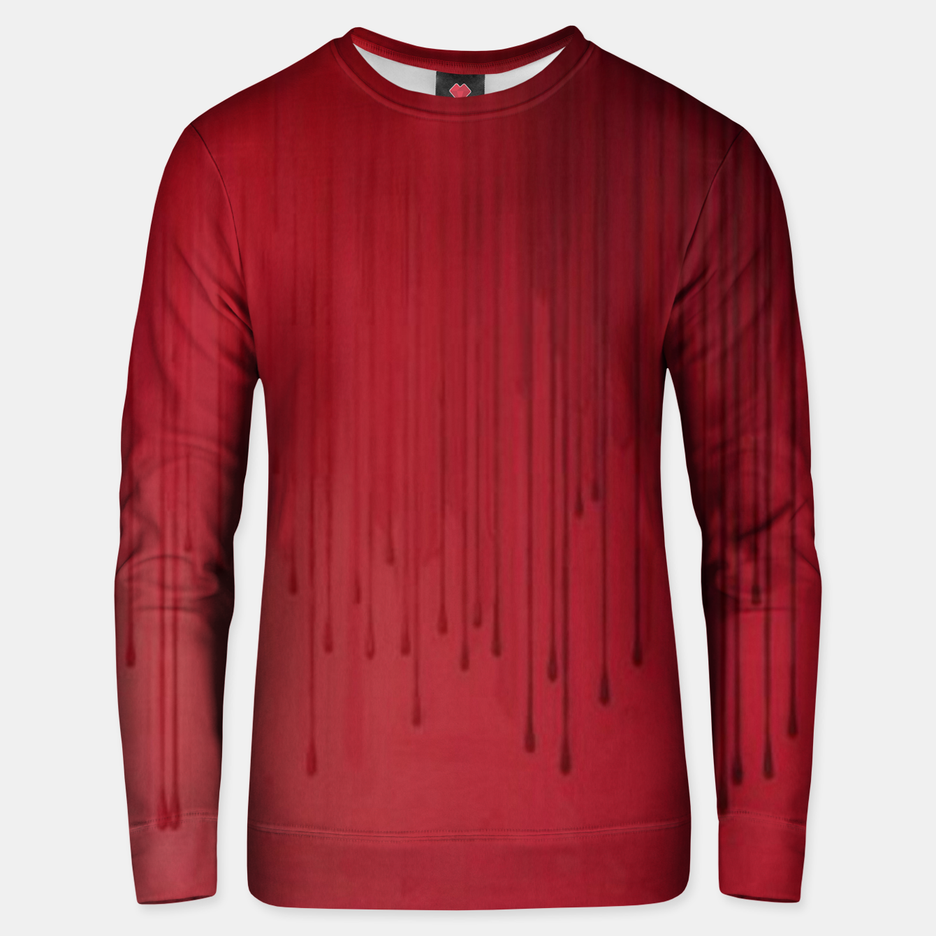 Image of Red drip Unisex sweater - Live Heroes