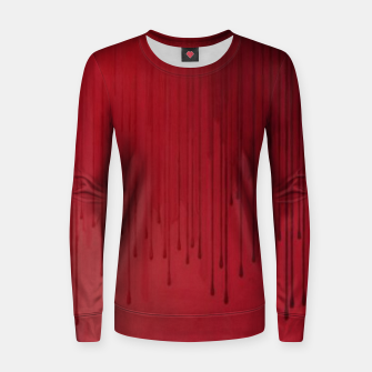 Thumbnail image of Red drip Women sweater, Live Heroes