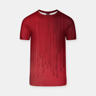 Thumbnail image of Red drip T-shirt, Live Heroes