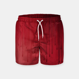 Thumbnail image of Red drip Swim Shorts, Live Heroes