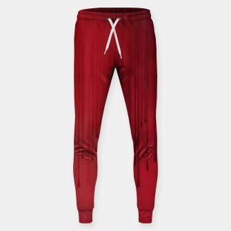 Thumbnail image of Red drip Sweatpants, Live Heroes