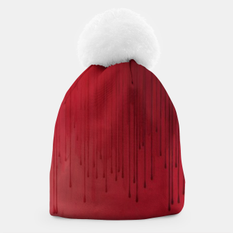 Thumbnail image of Red drip Beanie, Live Heroes