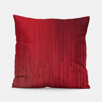Thumbnail image of Red drip Pillow, Live Heroes
