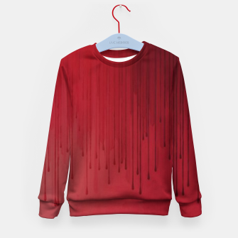 Thumbnail image of Red drip Kid's sweater, Live Heroes