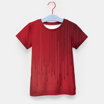 Thumbnail image of Red drip Kid's t-shirt, Live Heroes