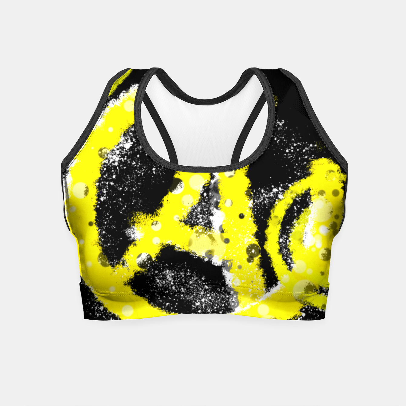 Image of Anarchy yellow Crop Top - Live Heroes