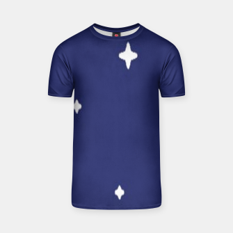 Thumbnail image of Space background print T-shirt, Live Heroes