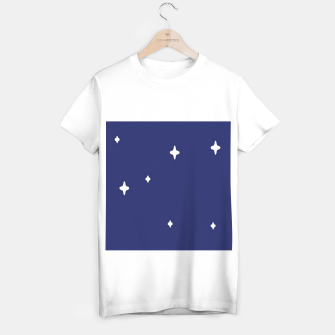 Thumbnail image of Space background print T-shirt regular, Live Heroes