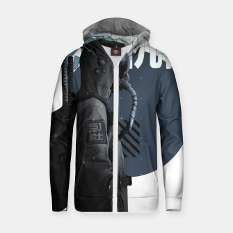 Thumbnail image of Gas Mask Japanese Cyberpunk Urban Futurist Style Soldier Sudadera con capucha y cremallera , Live Heroes