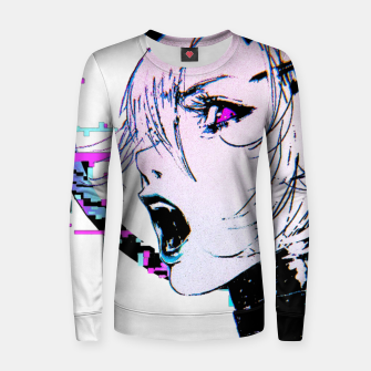 Thumbnail image of Cyberpunk Japanese Orb Glitch Evil Girl Urban Cool Style  Sudadera para mujeres, Live Heroes