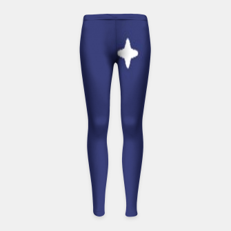 Thumbnail image of Space background print Girl's leggings, Live Heroes