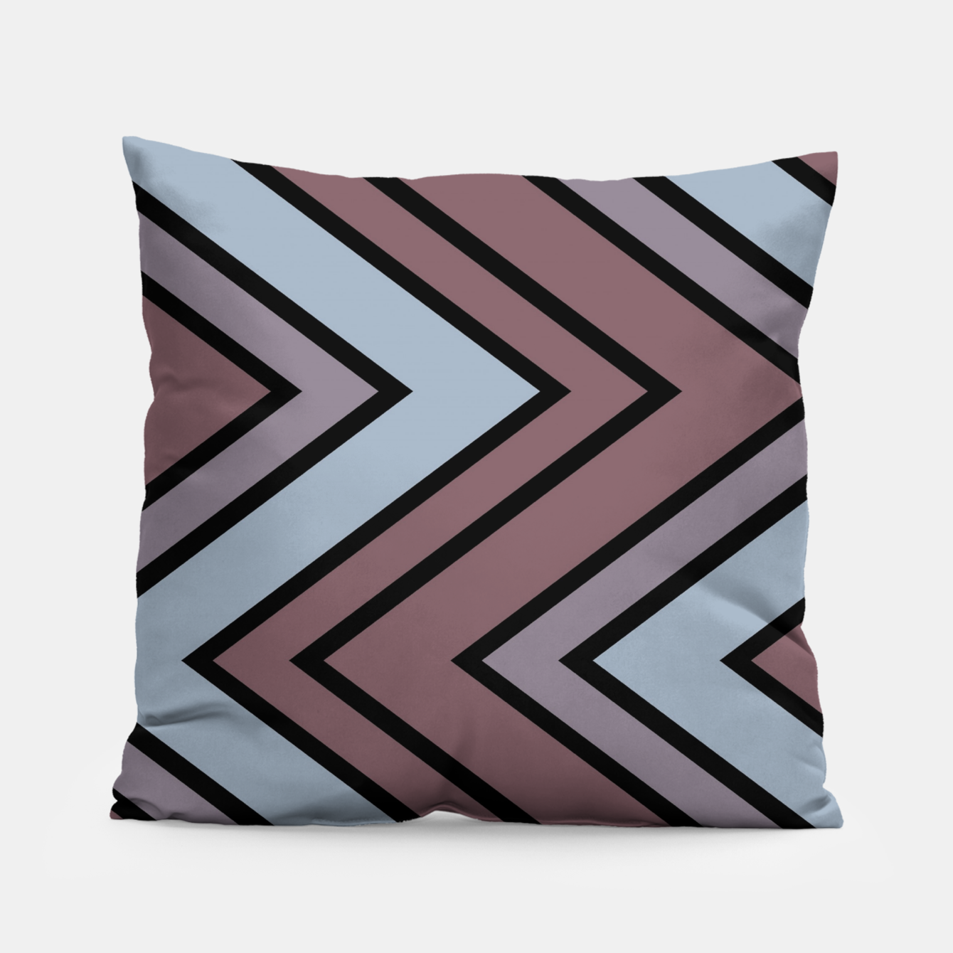 Image of Zigazag purple and blue Pillow - Live Heroes
