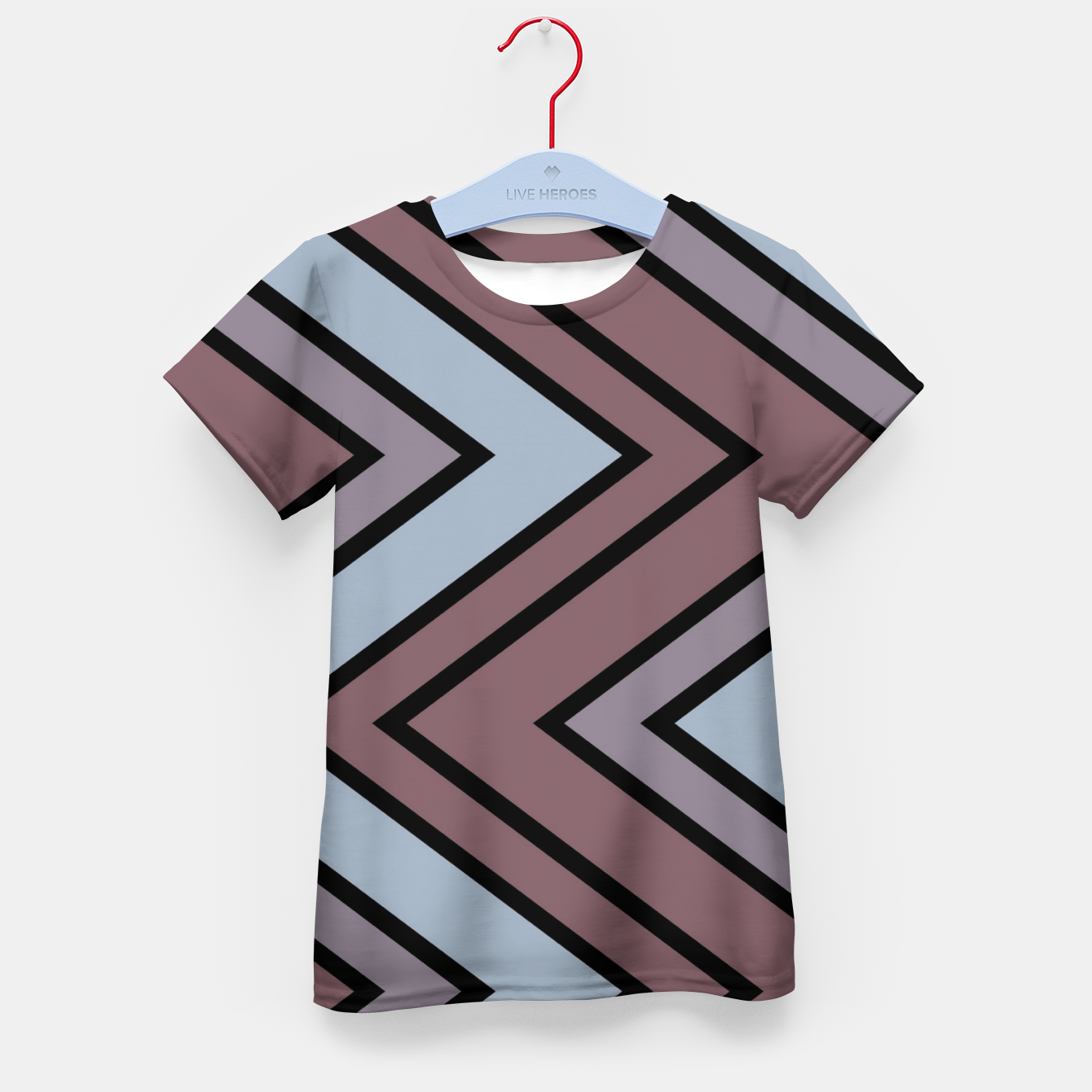 Image of Zigazag purple and blue Kid's t-shirt - Live Heroes