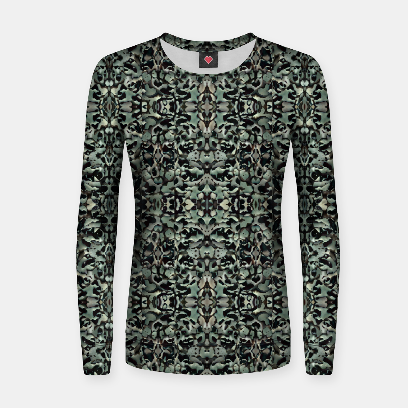 Image of Chic Camo Abstract Print Women sweater - Live Heroes