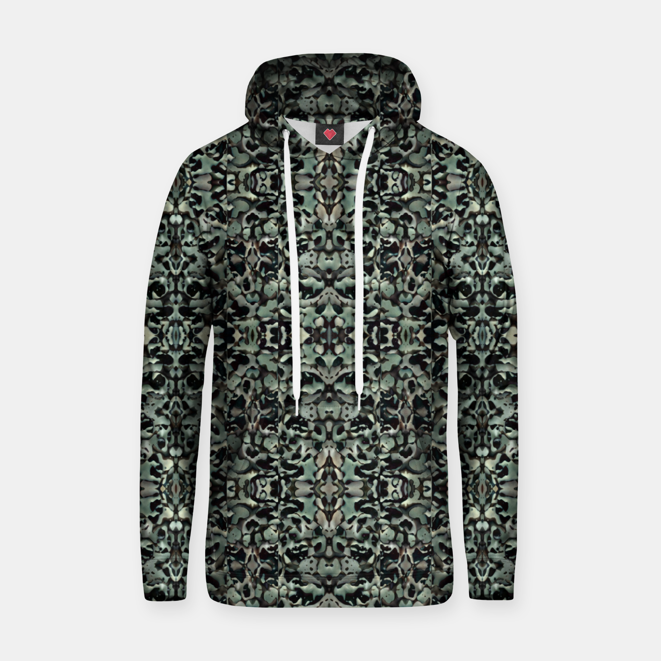 Image of Chic Camo Abstract Print Hoodie - Live Heroes