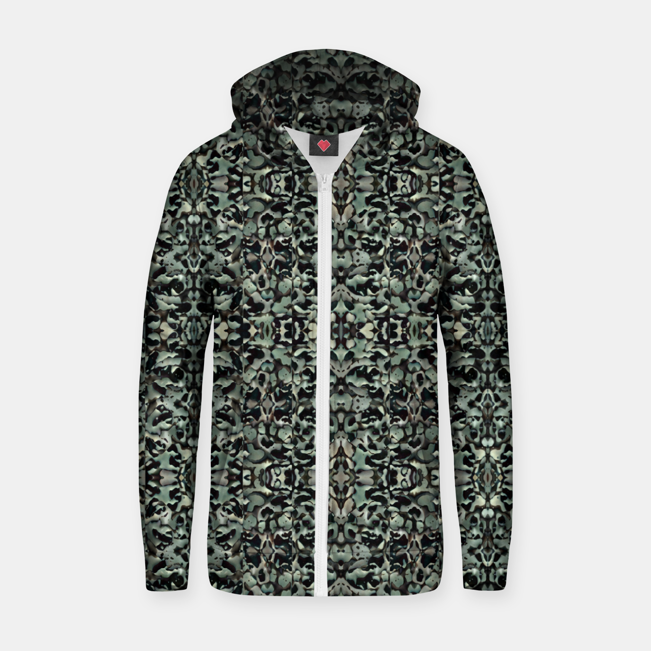 Image of Chic Camo Abstract Print Zip up hoodie - Live Heroes