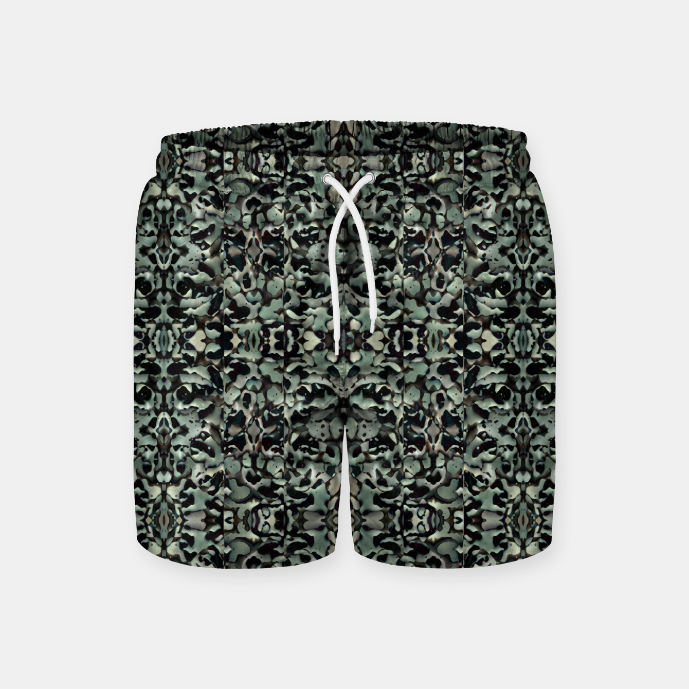 Image of Chic Camo Abstract Print Swim Shorts - Live Heroes