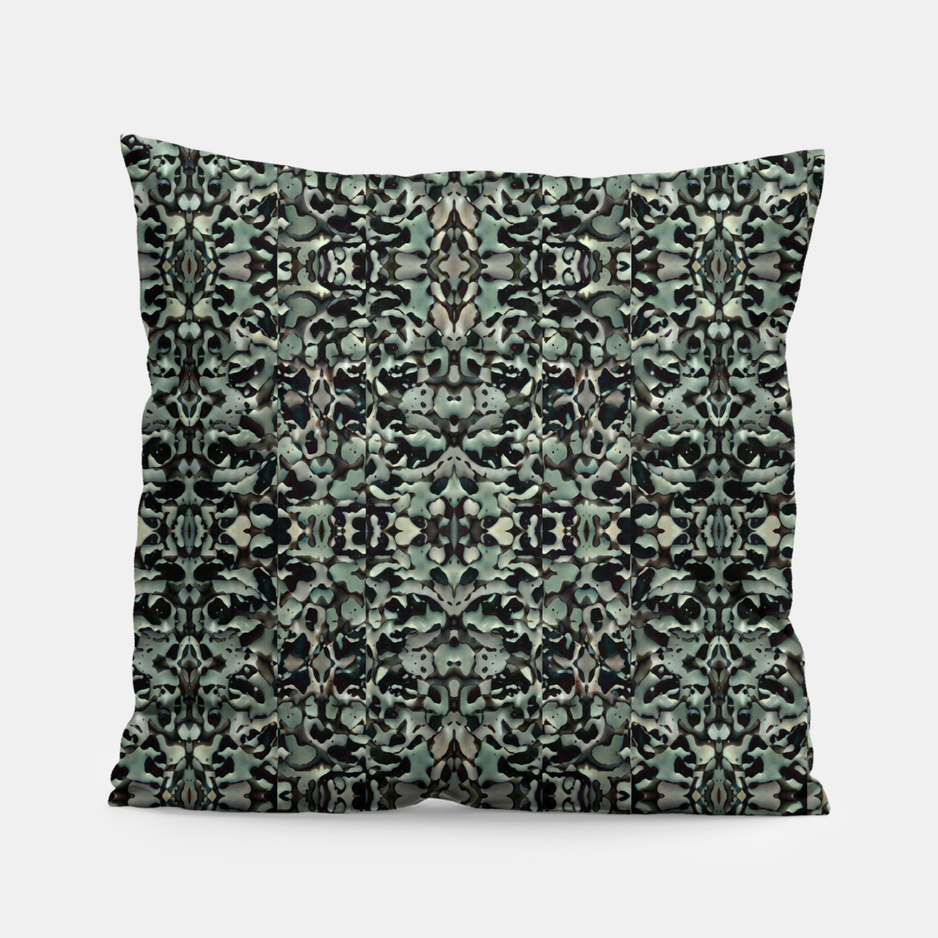 Image of Chic Camo Abstract Print Pillow - Live Heroes