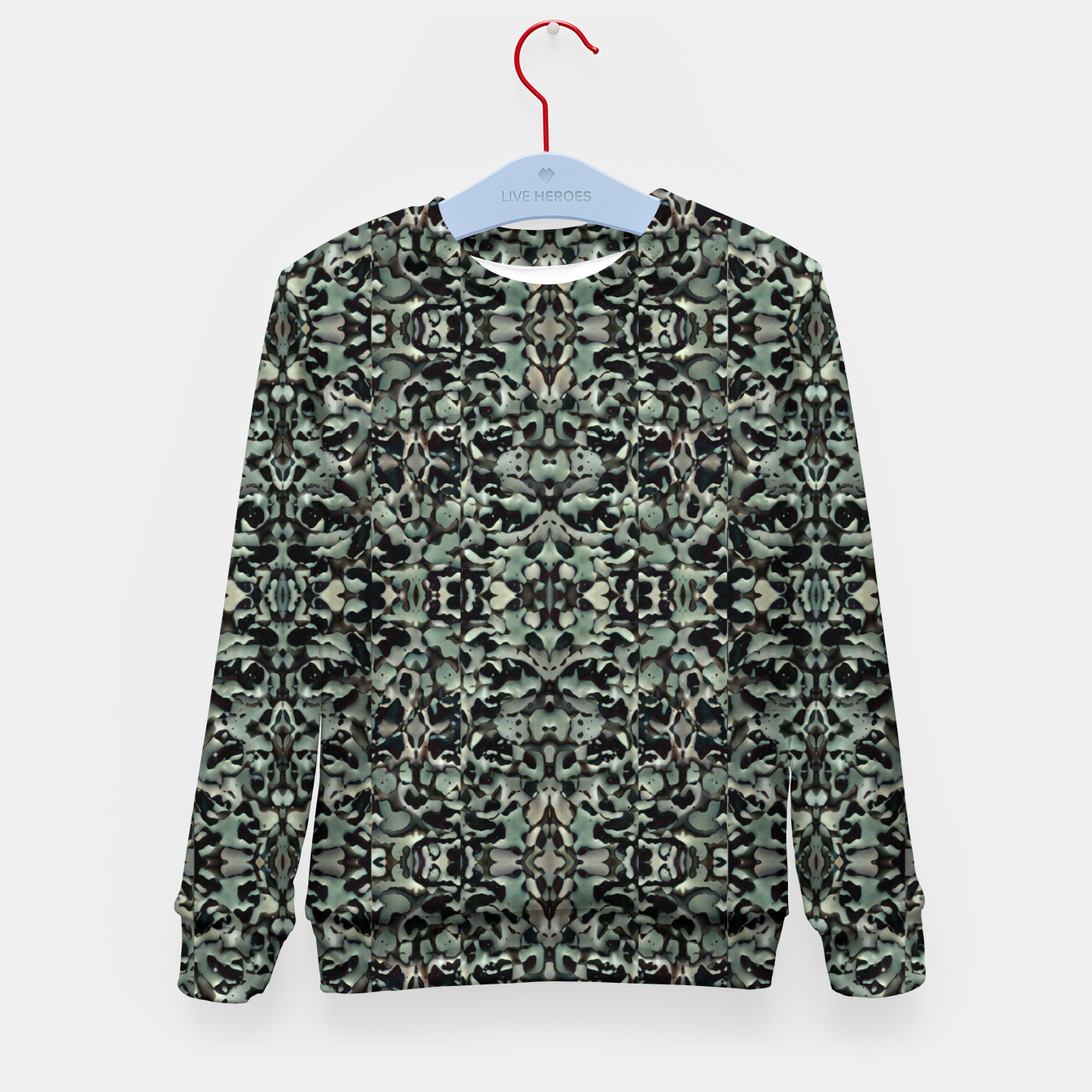 Image of Chic Camo Abstract Print Kid's sweater - Live Heroes