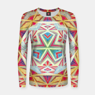 Thumbnail image of Tesseract Triad Pattern Women sweater, Live Heroes