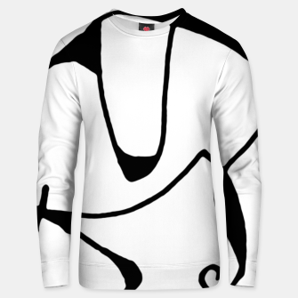 Thumbnail image of Black and White Abstract Linear Decorative Art Unisex sweater, Live Heroes