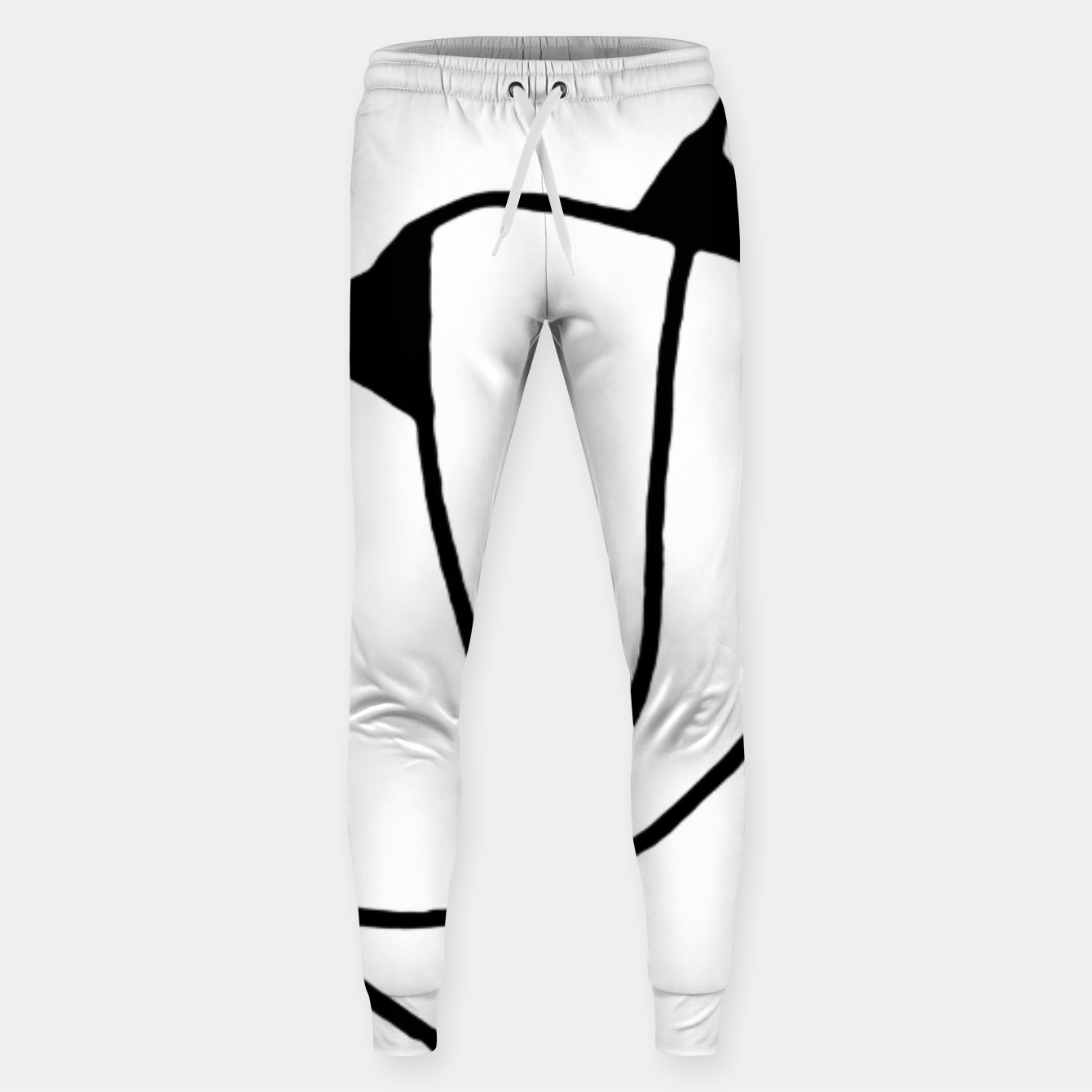 Image of Black and White Abstract Linear Decorative Art Sweatpants - Live Heroes