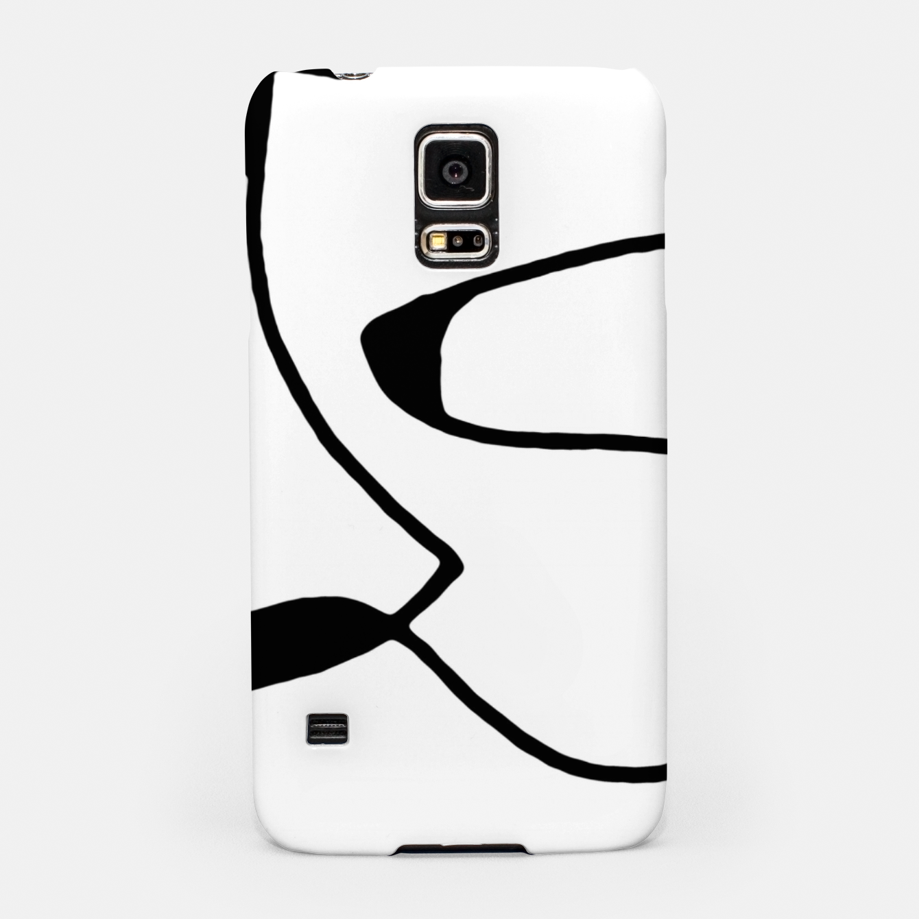 Image of Black and White Abstract Linear Decorative Art Samsung Case - Live Heroes