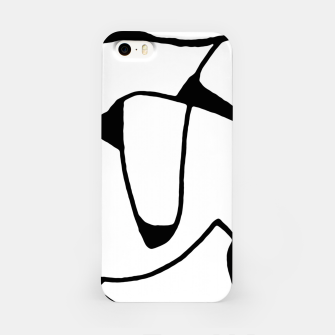 Thumbnail image of Black and White Abstract Linear Decorative Art iPhone Case, Live Heroes