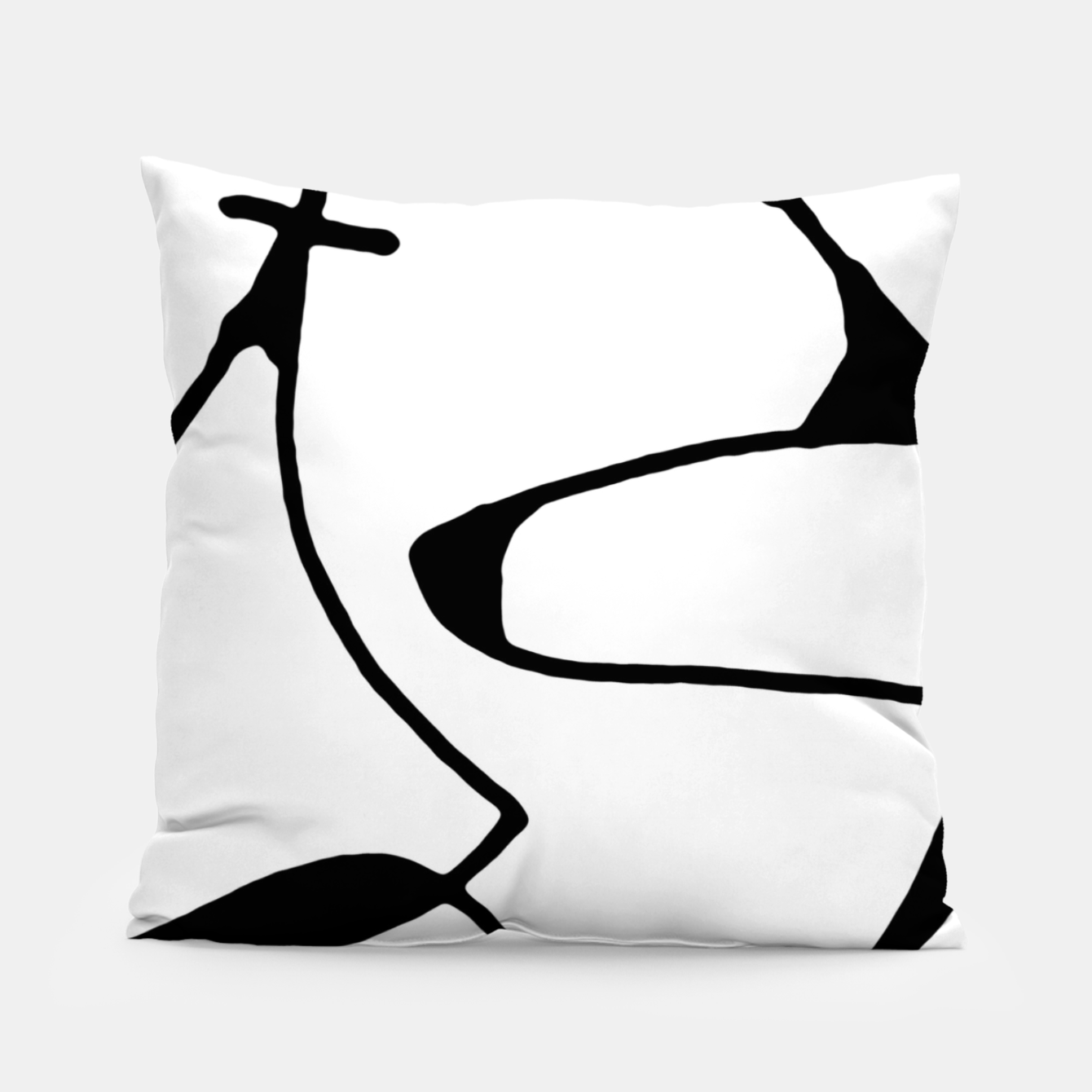 Image of Black and White Abstract Linear Decorative Art Pillow - Live Heroes