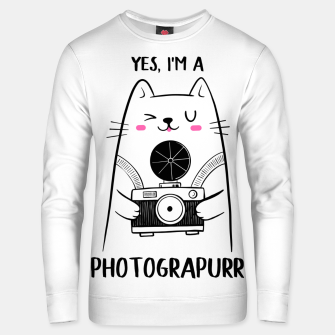 Yes, i'm a Photograpurr (for Light Color) Unisex sweater thumbnail image