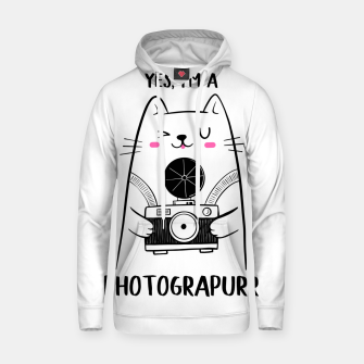 Yes, i'm a Photograpurr (for Light Color) Hoodie thumbnail image