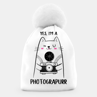 Yes, i'm a Photograpurr (for Light Color) Beanie thumbnail image