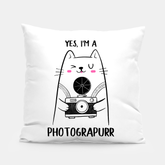 Yes, i'm a Photograpurr (for Light Color) Pillow thumbnail image