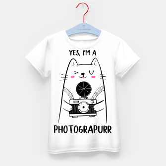 Thumbnail image of Yes, i'm a Photograpurr (for Light Color) Kid's t-shirt, Live Heroes