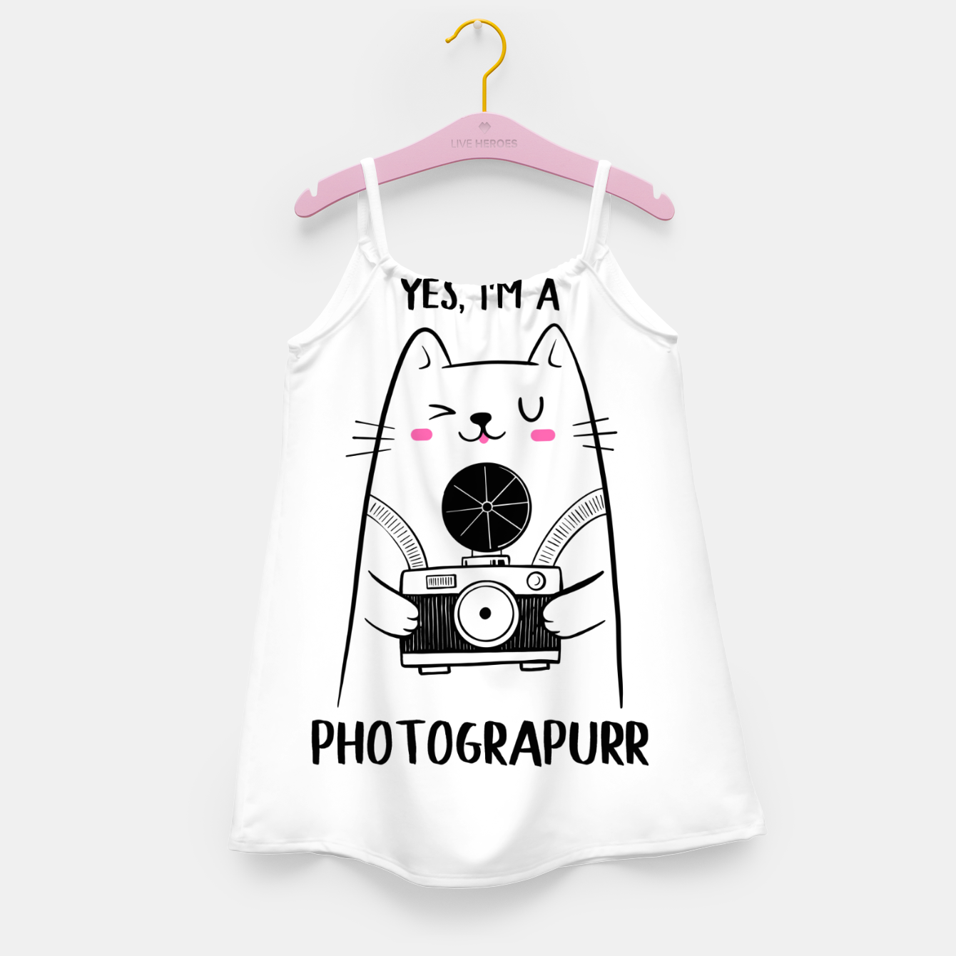 Image of Yes, i'm a Photograpurr (for Light Color) Girl's dress - Live Heroes