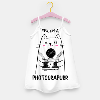 Yes, i'm a Photograpurr (for Light Color) Girl's dress thumbnail image