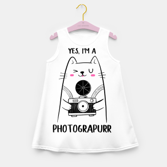Yes, i'm a Photograpurr (for Light Color) Girl's summer dress thumbnail image