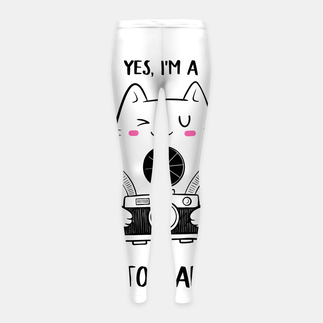 Image of Yes, i'm a Photograpurr (for Light Color) Girl's leggings - Live Heroes