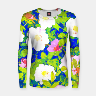 Thumbnail image of Pop Flowers Women sweater, Live Heroes