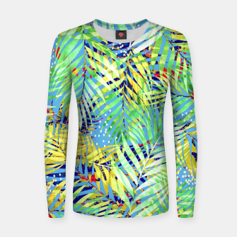 Thumbnail image of Winter Palm Women sweater, Live Heroes