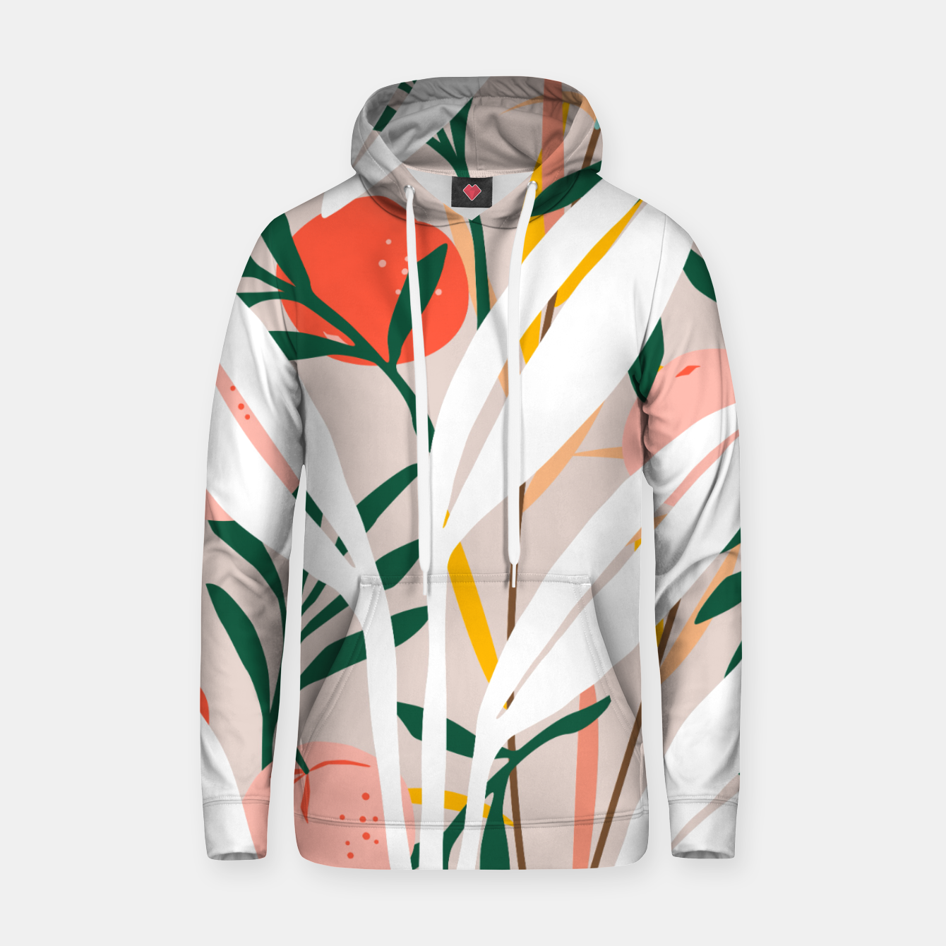 Image of Abstract Plant Blush  Hoodie - Live Heroes