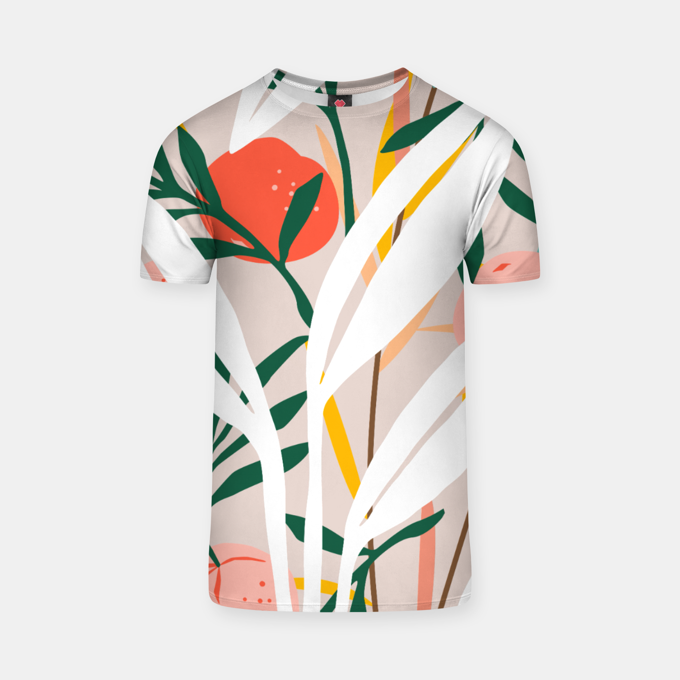 Image of Abstract Plant Blush  T-shirt - Live Heroes