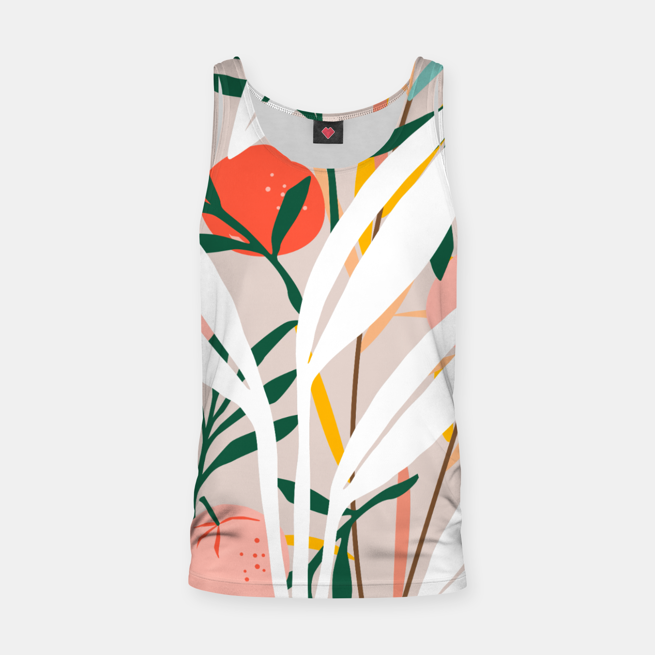 Image of Abstract Plant Blush  Tank Top - Live Heroes