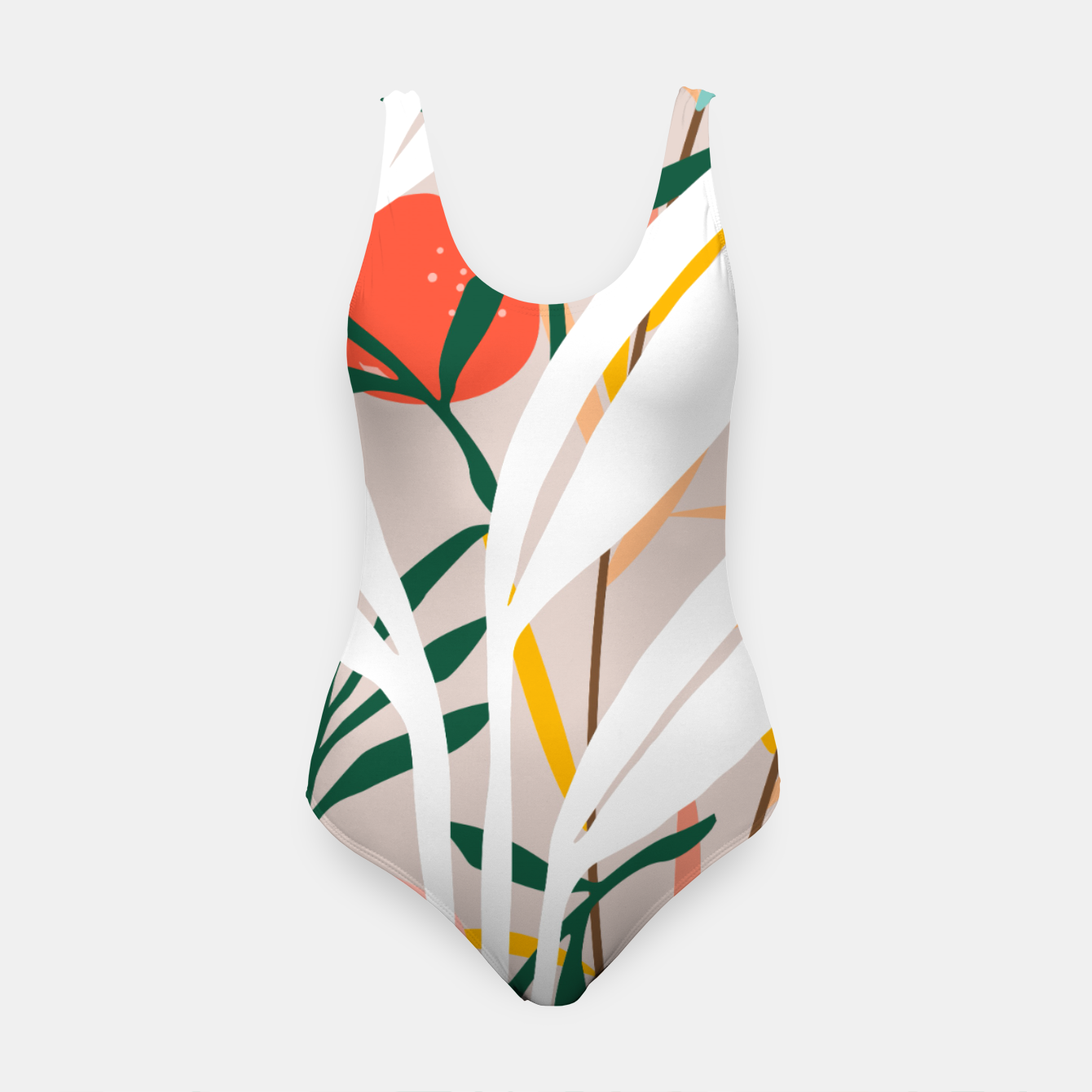 Image of Abstract Plant Blush  Swimsuit - Live Heroes